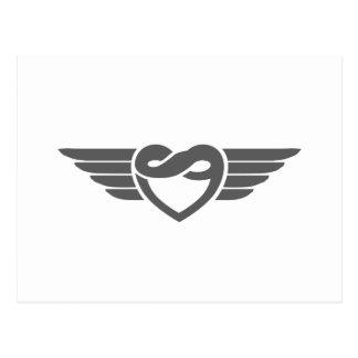 Asas eternos do coração cartão postal