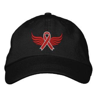 Asas vermelhas da fita do cancer de sangue bone