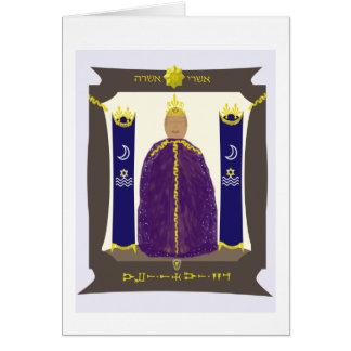 Asherah encaixou o cartão