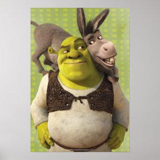 Asno e Shrek Pôster