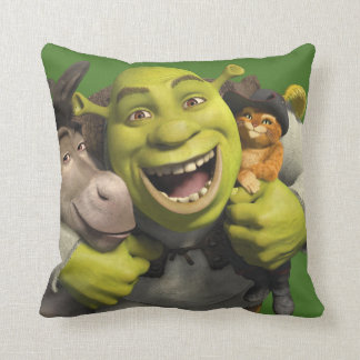 Asno, Shrek, e Puss nas botas Almofada