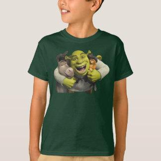 Asno, Shrek, e Puss nas botas Camiseta