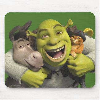 Asno, Shrek, e Puss nas botas Mouse Pad