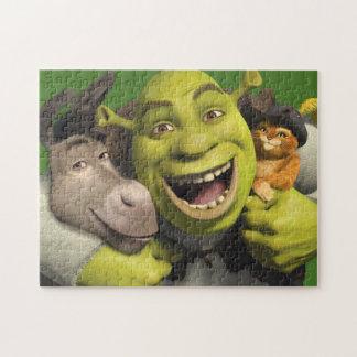 Asno, Shrek, e Puss nas botas Quebra-cabeças