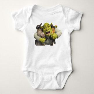 Asno, Shrek, e Puss nas botas T-shirt