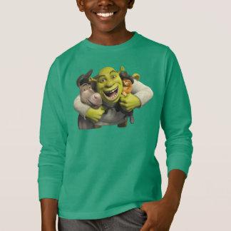 Asno, Shrek, e Puss nas botas T-shirts