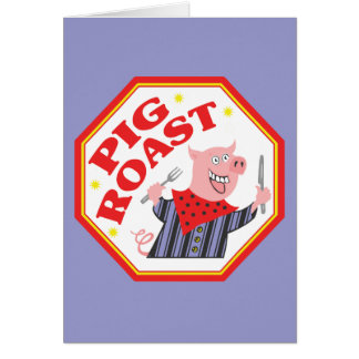 Assado do porco cartão comemorativo