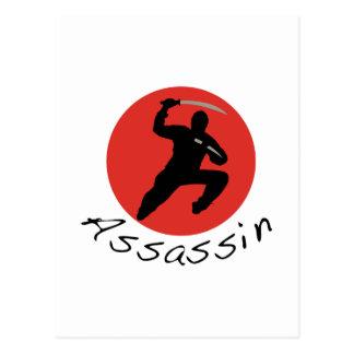 Assassino de Ninja Cartão Postal
