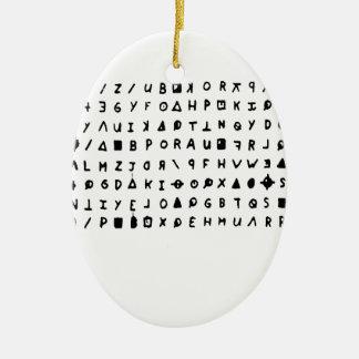 Assassino do zodíaco ornamento de cerâmica oval