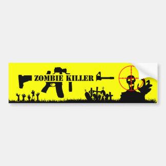 Assassino do zombi adesivo para carro