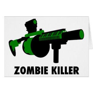 Assassino do zombi cartão comemorativo