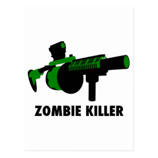 Assassino do zombi cartão postal