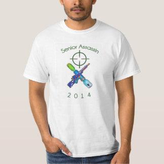 Assassino superior camiseta