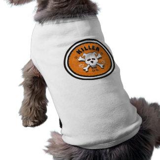 ASSASSINO - tshirt do t-shirt do animal de Camisa Sem Mangas Para Cachorro