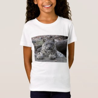 Assento de Cub do leopardo de neve T-shirt