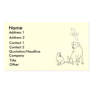 Assento do animal de estimação, serviço do animal  cartao de visita