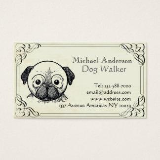 Assento do veterinário e do animal de estimação cartão de visitas