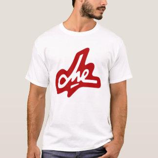 Assinatura de Che Guevara - vermelho no branco Camiseta
