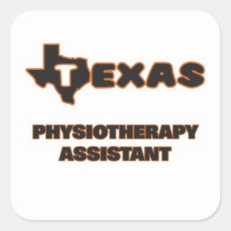 Assistente da fisioterapia de Texas Adesivo Quadrado