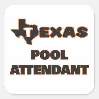 Assistente da piscina de Texas Adesivo Quadrado