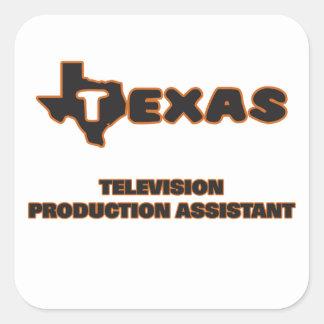 Assistente da produção da televisão de Texas Adesivo Quadrado