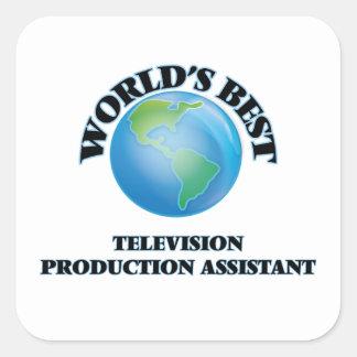 Assistente da produção da televisão do mundo o adesivo quadrado