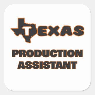 Assistente da produção de Texas Adesivo Quadrado
