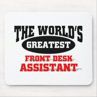 Assistente da recepção do mundo o grande mousepads