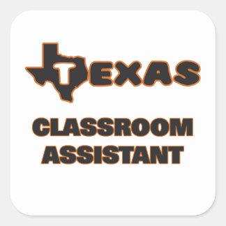 Assistente da sala de aula de Texas Adesivo Quadrado
