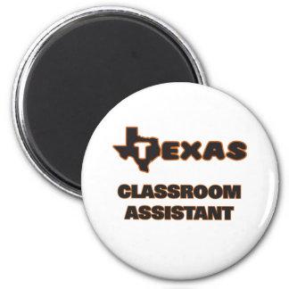Assistente da sala de aula de Texas Ímã Redondo 5.08cm