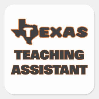 Assistente de ensino de Texas Adesivo Quadrado