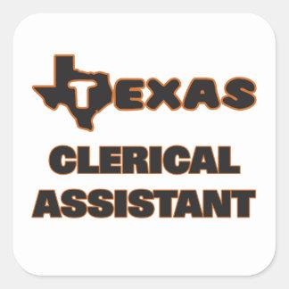 Assistente de escritório de Texas Adesivo Quadrado