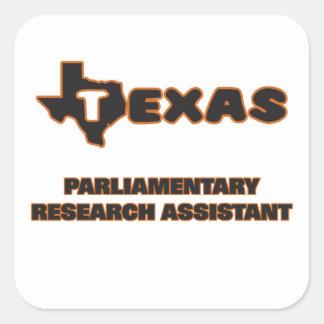 Assistente de pesquisa parlamentar de Texas Adesivo Quadrado