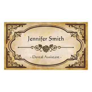 Assistente dental - antiguidade elegante do cartão de visita