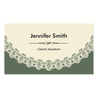 Assistente dental - laço chique retro cartão de visita