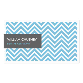 Assistente dental - luz - ziguezague azul de cartão de visita