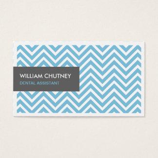 Assistente dental - luz - ziguezague azul de cartão de visitas