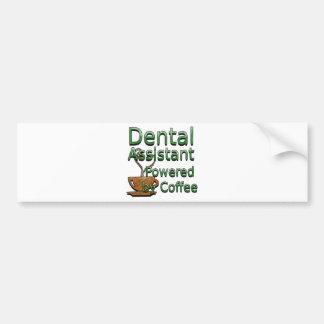 Assistente dental psto pelo café adesivo para carro