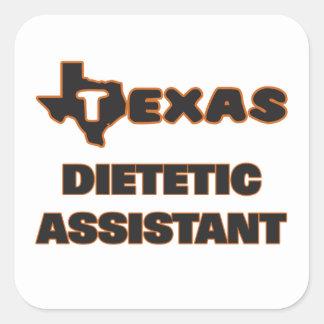 Assistente dietético de Texas Adesivo Quadrado