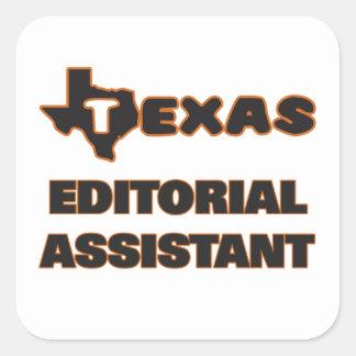 Assistente do editorial de Texas Adesivo Quadrado