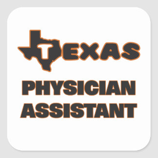 Assistente do médico de Texas Adesivo Quadrado