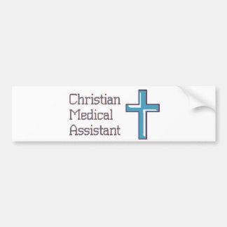 Assistente médico cristão adesivo para carro