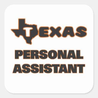 Assistente pessoal de Texas Adesivo Quadrado