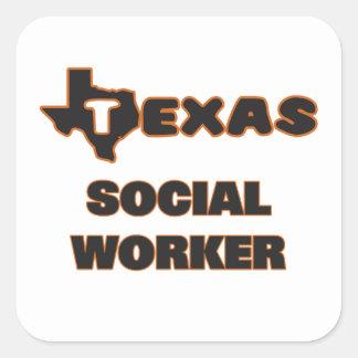 Assistente social de Texas Adesivo Quadrado