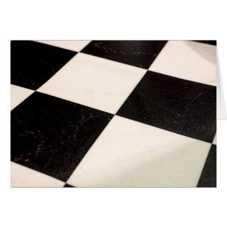 Assoalho Checkered preto & branco Cartão