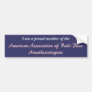 Associação americana do Anesthesiologist da Bola-P Adesivo Para Carro