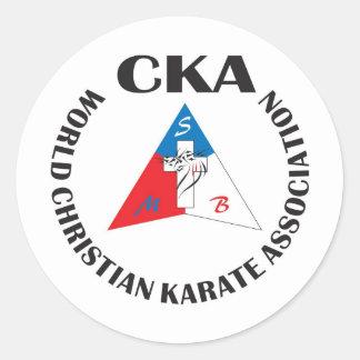 Associação cristã Sticke do karaté do mundo Adesivo