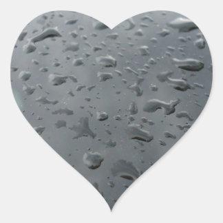 Associação da água adesivo coração