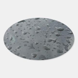 Associação da água adesivo oval