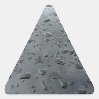 Associação da água adesivo em forma de triângulo
